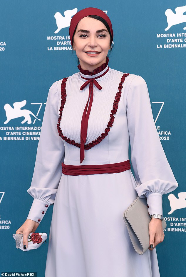 New project: Actress Mahdieh Nassaj arrived at the festival photocall for her new movie The Wasteland on Thursday