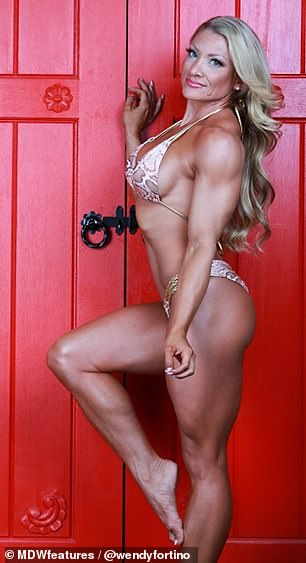 Proud: 'I've had men tell me in the past that they are not into women with too much muscle, but that doesn't bother me,' she said