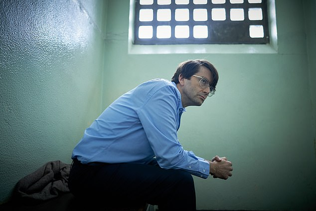 Died in prison:Nielsen was alive when the show first went into production in 2018 but died before the three-part series could be aired, a fact David said he was 'relieved' about