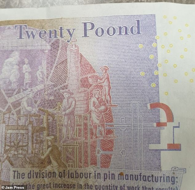Several fake £20s may be in circulation in Bodmin, Cornwall, police have warned. They can be identified by the miss-spelled word 'Pound' (shown above)