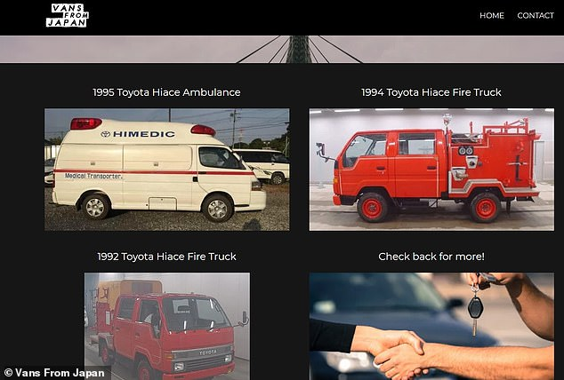 Sacramento company Vans From Japan, which buys trucks from Japan and sells them in California, is now cashing in on the demand for fire services by selling fire trucks