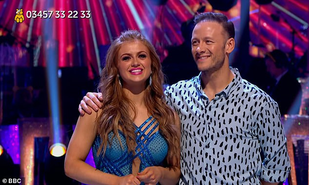 Winner? Talking on Thursday's This Morning, Maisie teased that she could be the 'dark horse' of the competition and also admitted to her dancing background (pictured after winning Children In Need special of Strictly in November with former pro Kevin)