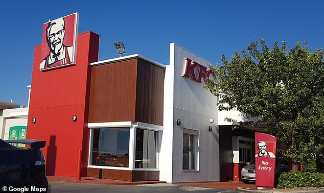 The customer was upset his KFC chicken was 'late and 'cold' after ordering from the Spearwood store in Fremantle, Western Australia (pictured)