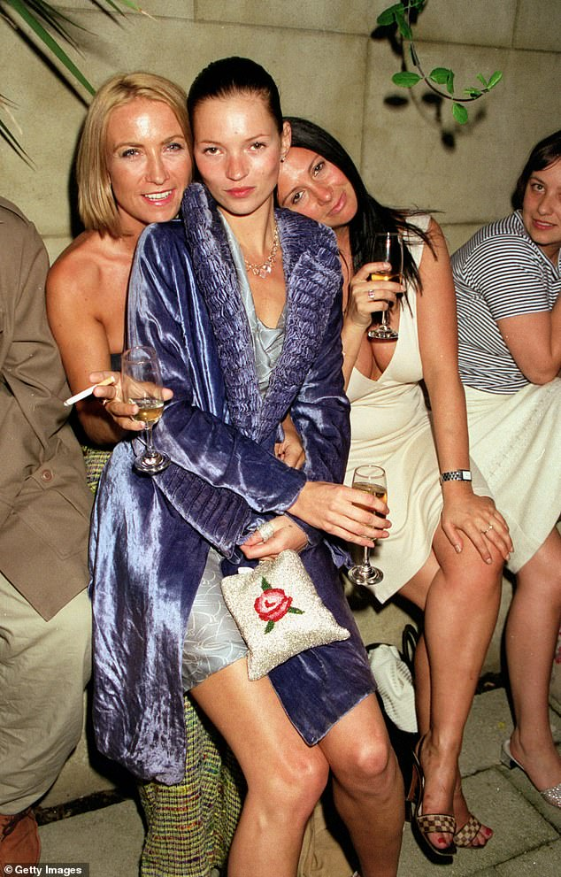 Meg with best friends Kate Moss and Fran Cutler, 1998. 'I don't regret any of those times but a lot of it you are just putting on a mask'