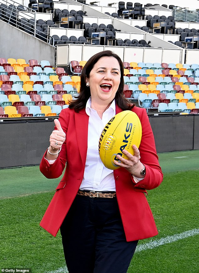 Premier Annastacia Palaszczuk has been accused of border 'double standards' after allowing an estimated 400 AFL players and officials from coronavirus-riddled Victoria into the state under special quarantine arrangements