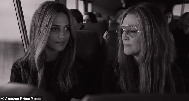 Double take! Four different actresses - including Alicia Vikander (L) and Julianne Moore (R) - channel feminist icon Gloria Steinem in Julie Taymor's biopic The Glorias, which starts streaming on Amazon Prime Video/VOD on September 30