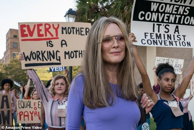 'The truth will set you free but first it will p*** you off': The 59-year-old Oscar winner - who most resembles the 86-year-old women's rights activist - portrays her after age 40