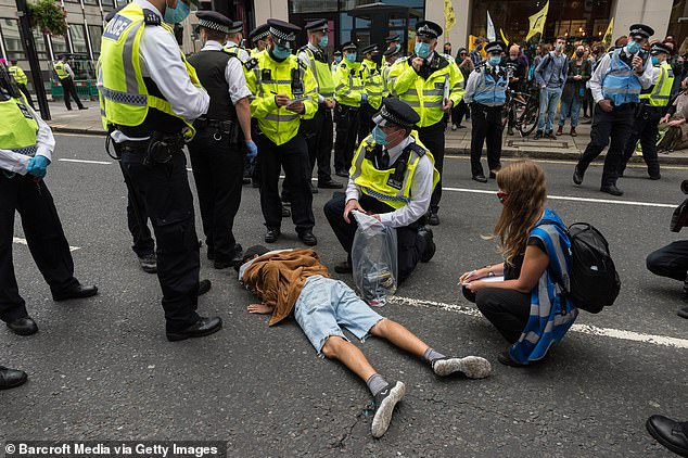 The Met confirmed that 72 people had been arrested as of 5pm on Wednesday, the majority for breaching conditions imposed on the Parliament Square demonstration