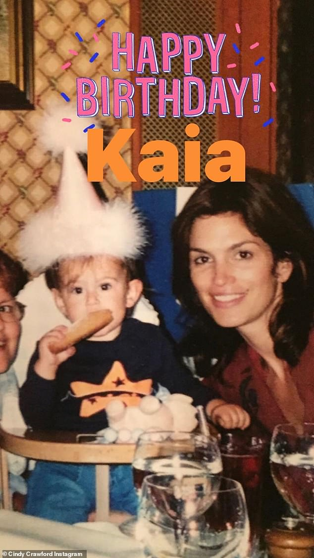 Celebration!Model Kaia Gerber turned 19-years-old on Thursday and her doting parents, Cindy Crawford and Rande Gerber, each took to social media with sweet tributes to their 'not so little' girl