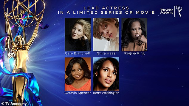 Sure thing: Mrs. America is nominated for six trophies at the 72nd Primetime Emmy Awards - airing September 20 on ABC - including for frontrunner Cate Blanchett who played anti-feminist Eagle Forum founder Phyllis Schlafly