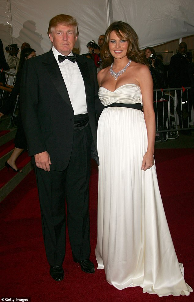 The lawyer is not identified but she claims Trump groped her in 2006- the year his wife Melania gave birth to their son Baron (The couple are pictured in March 2006)