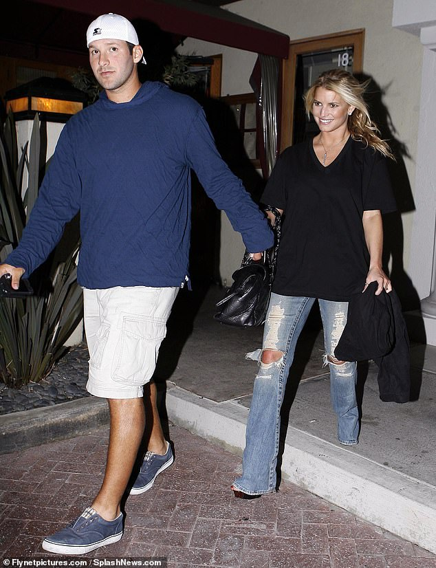 The past: In 2008 with Tony Romo leaving Nobu in Malibu after having dinner