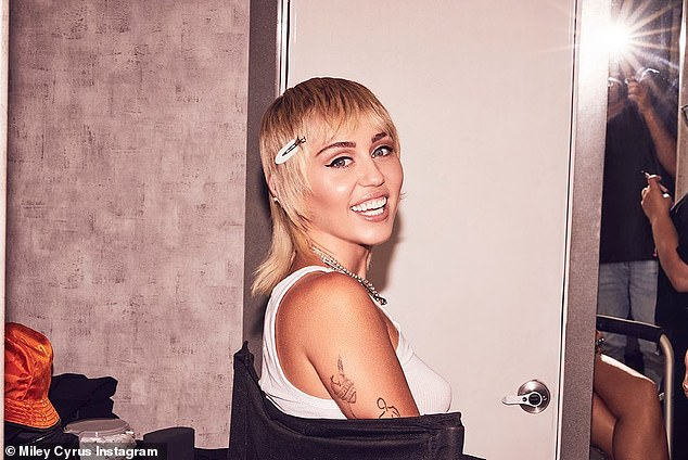 Beauty: Miley - who shared these stunning snaps on Thursday - made the comments while appearing on Joe Rogan's podcast