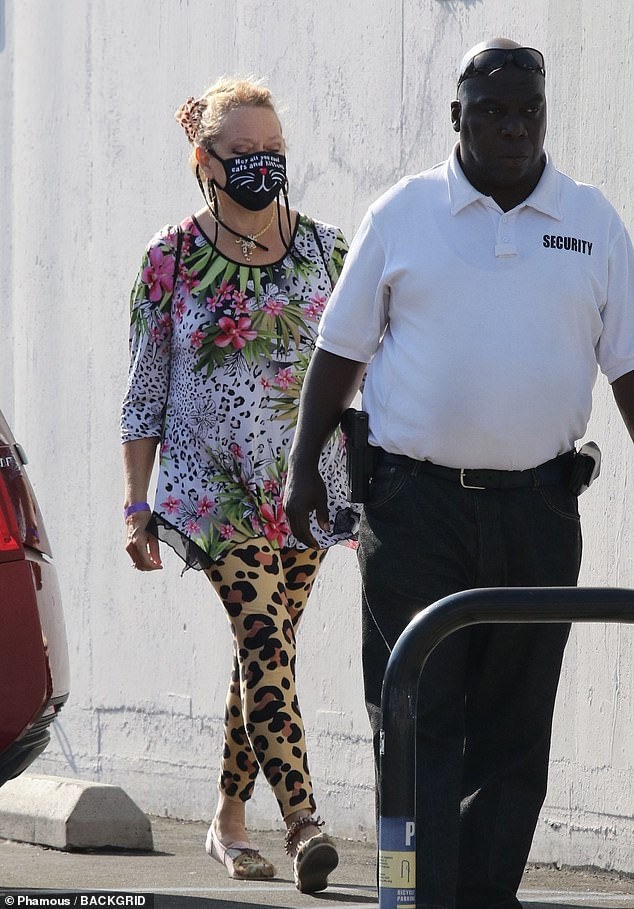 Meow: Carole Baskin looked ready for action on Thursday, as she was seen heading into rehearsals for the first time at the Dancing With The Stars studio in Los Angeles