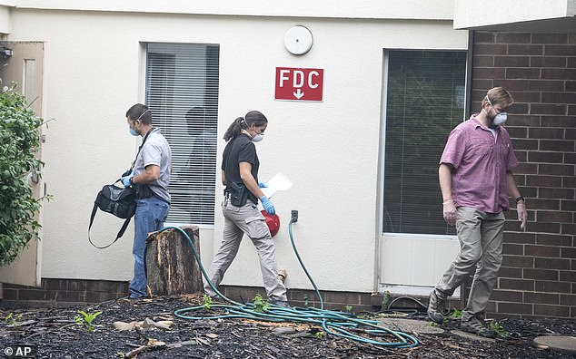Agents were seen carrying out a search operation in Mount Lebanon Rehabilitation and Wellness Center as well. The nursing home made headlines earlier this summer after it was accused of stealing residents' stimulus checks