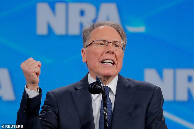 NRA president Wayna LaPierre. He has denied all the accusations against him and the association