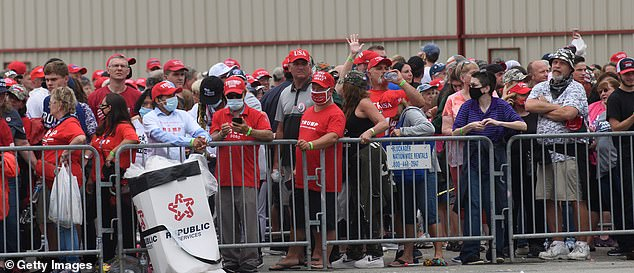 Biden's crowd was dwarfed by the crowd at Trump's rally in Latrobe, Pennsylvania, scheduled for Thursday night