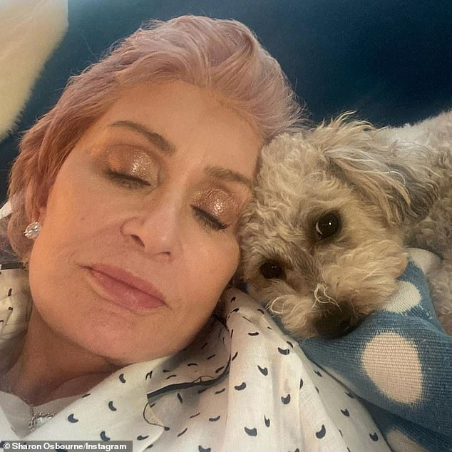 Wife, mother, star: Sharon has stood by her longtime husband as his health woes have continued; seen on her Instagram recently