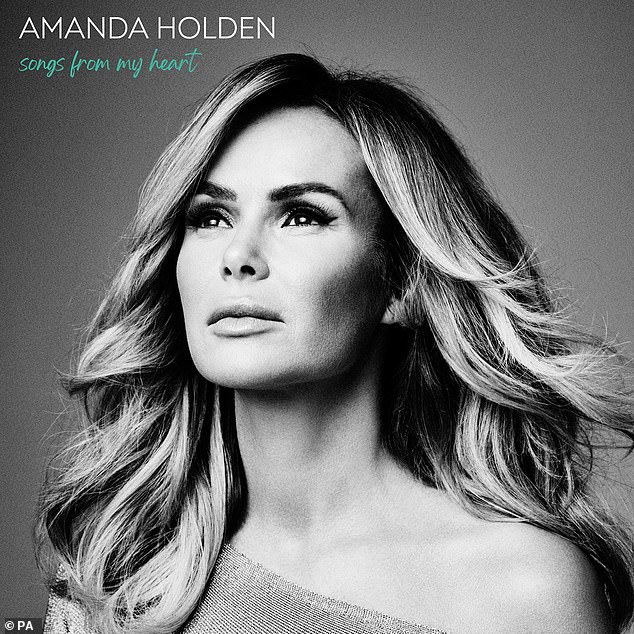 Exciting:Amanda Holden, 49, has revealed she's dedicated a song on her debut album Songs From My Heart to her late son Theo ahead of its release this month