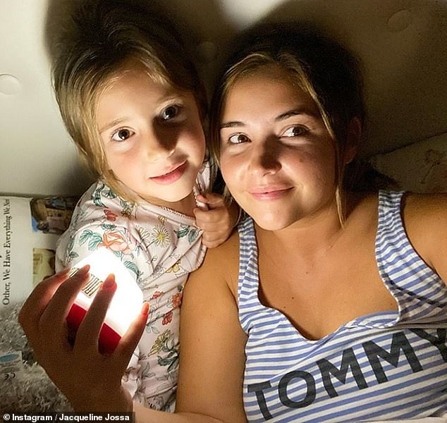 Sweet:Jacqueline Jossa has admitted she's already 'missing' her daughter Ella in an emotional post, as she prepares to return to school following the COVID-19 lockdown