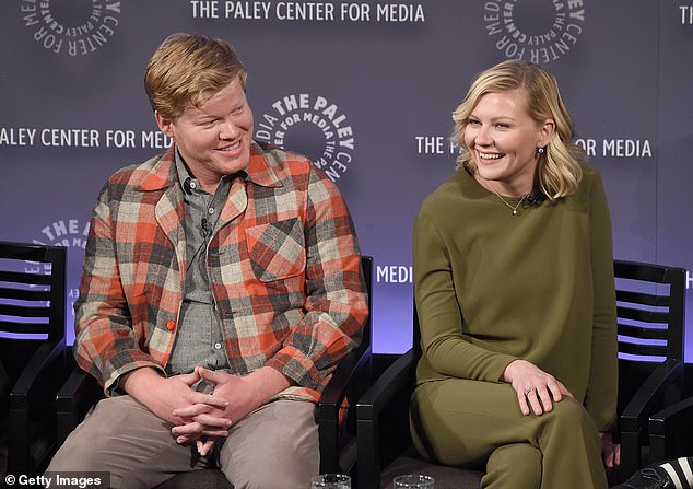 Love: 'I knew that she would be in my life for a long time,' Jesse Plemons, 32, told the New York Times about his instant connection with now fiancee Kirsten Dunst back in 2015 (pictured)