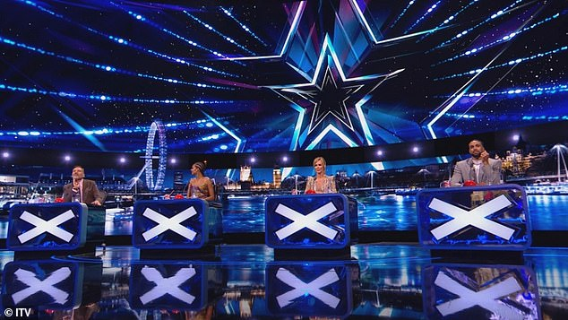SPOILER:Britain's Got Talent have revealed a glimpse of the show's new socially-distanced judging panel ahead of the first semi-final this weekend
