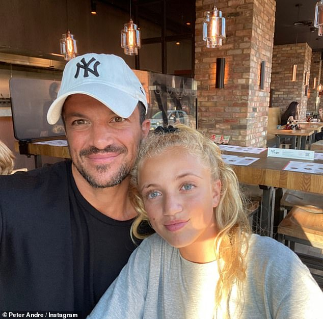 Father and daughter:The father-of-four was every inch the doting dad as he shared a series of snaps with his eldest daughter Princess, 13, who he shares with ex-wife Katie Price, 42
