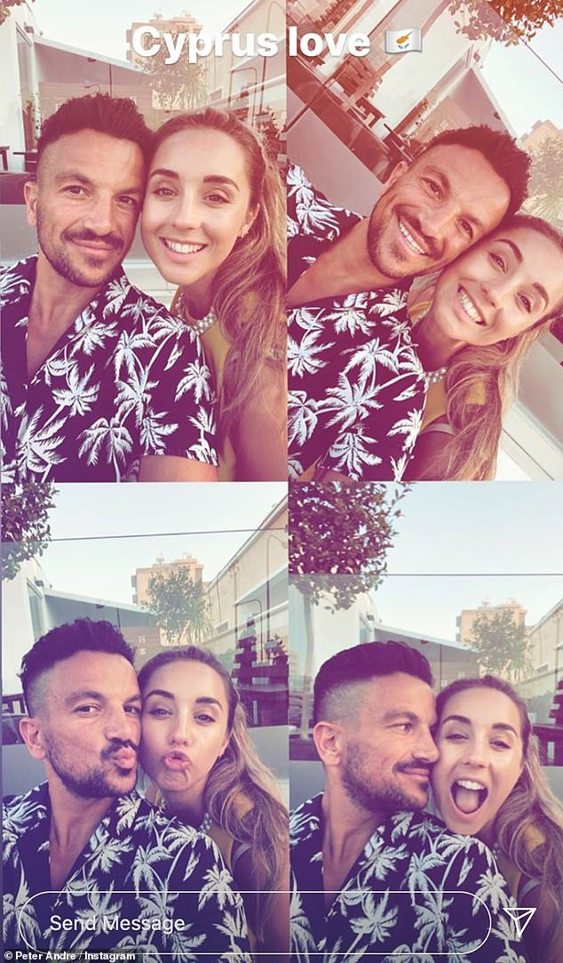 Cute!Peter Andre gave followers an insight into their getaway with a selection of Instagram snapshots, as he shared pictures from their dinner out together