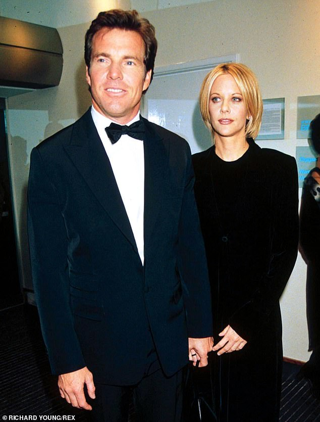 Parents: Ryan shares Jack with actor husband Dennis Quaid to whom she was married for a decade from 1991 to 2001 (pictured in November 1998)