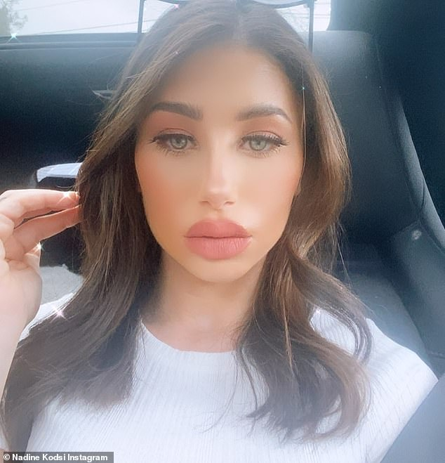 Bold claims: Shortly before the Bachelor's season premiere last month, Nadine said that the first days of filming had been carefully choreographed. She claimed the producers were 'evil', that Locky was a 'puppet', and that the women were pushed into behaving in a certain way