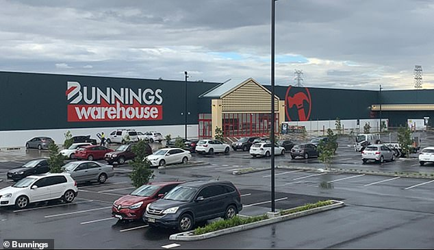 Seven cases were linked to known coronavirus clusters in Sydney and one was a returned traveller in hotel quarantine. Bunnings Padstow (pictured) has been put on alert after an infectious customer visited the store between 12pm and 2pm on August 27