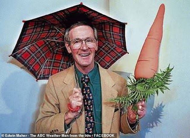 Maher became something of a sensation in Melbourne for using objects such as carrots to point at the weather forecast - before becoming a news anchor for Chinese state media