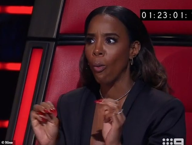 Reality world: Rowland has spent a good deal of her time Down Under serving as a judge and a coach on The Voice Australia since 2017