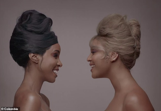 Special guest: Rowland made an appearance in Beyonce's stunning new video for Brown Skin Girl that debuted just over a week ago