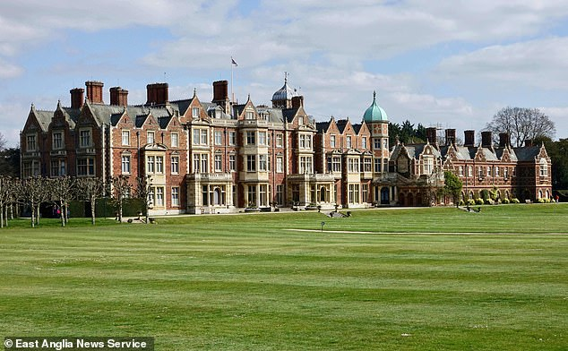 The Queen and the Duke of Edinburgh will now spend at least two weeks 'privately' at Sandringham (pictured)
