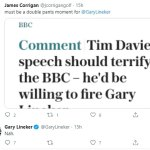 Gary Lineker mocks Tim Davie's BBC social media crackdown