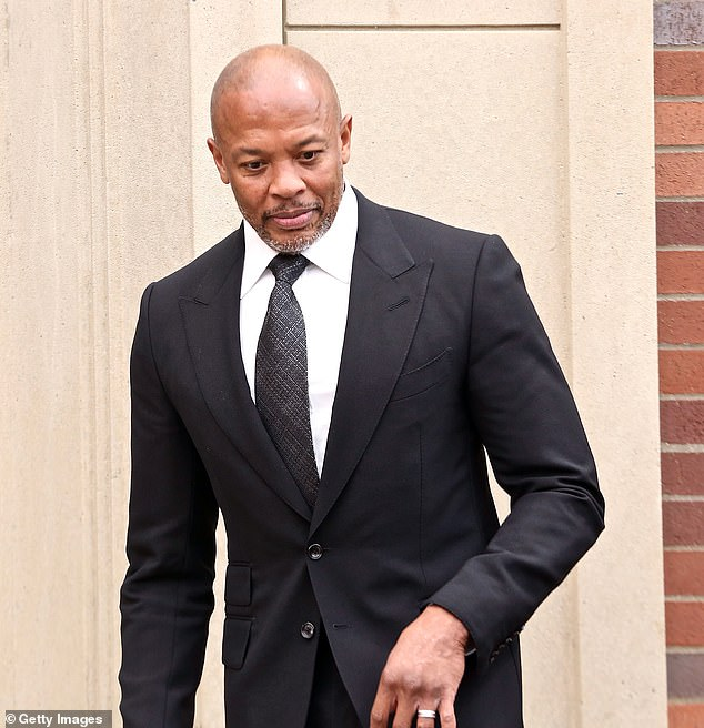 Tough times: Dr. Dre, 55, told an LA court that Young will not give him back his motorcycle, golf clubs and firearms from Malibu home they formerly shared
