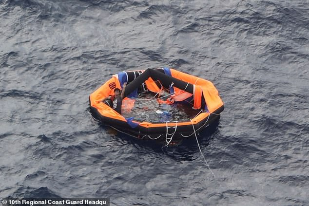 An orange lifeboat was found by rescuers searching for survivors from the capsized Gulf Livestock One in the East China Sea