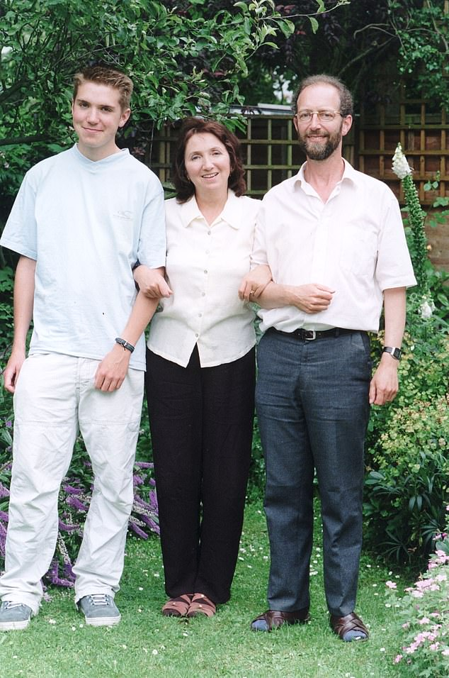 Meanwhile Hawking's wife Jane had drifted away from him and had begun an affair of her own with Jonathan Hellyer Jones, the choirmaster at her local church in Cambridge.Jane went to Hawking and explained she was having an affair and he gave his blessing, the book says. Pictured: Jane with new husband Jonathan (right) and her son Tim Hawking