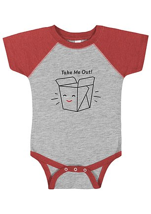 Too cute! Panda Express also sells some themed baby onesies