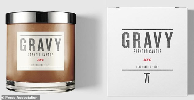 Savory: KFC UK made this limited-edition gravy-scented candle in early 2019