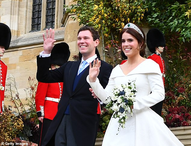 Good to see Princess Eugenie and her husband, Jack Brooksbank (pictured above at their wedding in 2018), are doing their bit to help revive London¿s nightlife