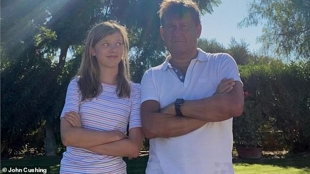 Bristol father John Cushing (pictured right) said he had to cut his Portugal holiday short to beat the quarantine that never happened and get his daughter Georgie, 12, (left) back to school