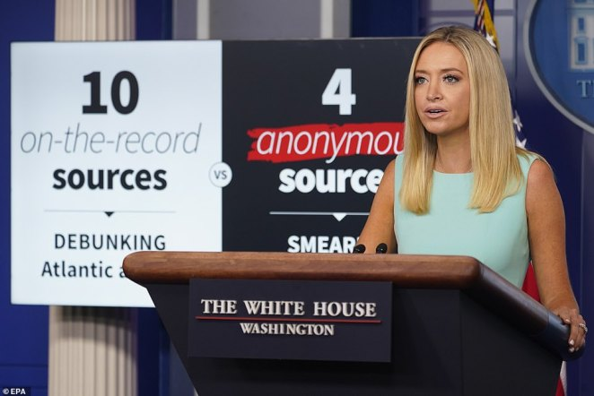 House Press Secretary Kayleigh McEnany blasted the media following a report that President Trump called fallen U.S. troops 'losers' and avoided a visit to a historic cemetery