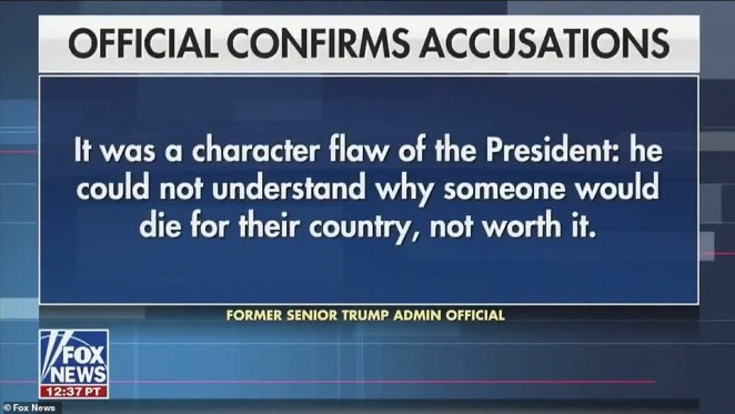 Former officials within the White House told the news station that the reporting was true