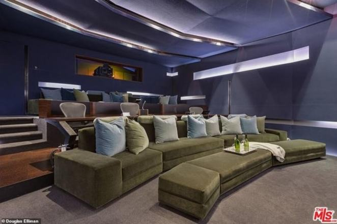 Movie night: Other opulent amenities include a gym, a sports court, professional screening room, a guesthouse and a guard house