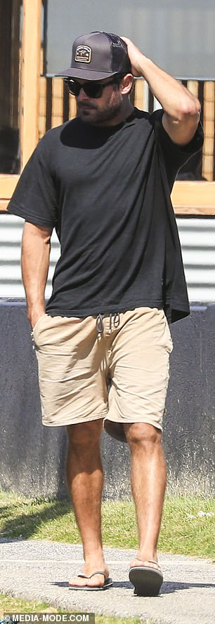 Loving Australia: It comes just days after The Daily Telegraph reported that Zac had 'inspected and put in an offer' on a home in Byron Bay