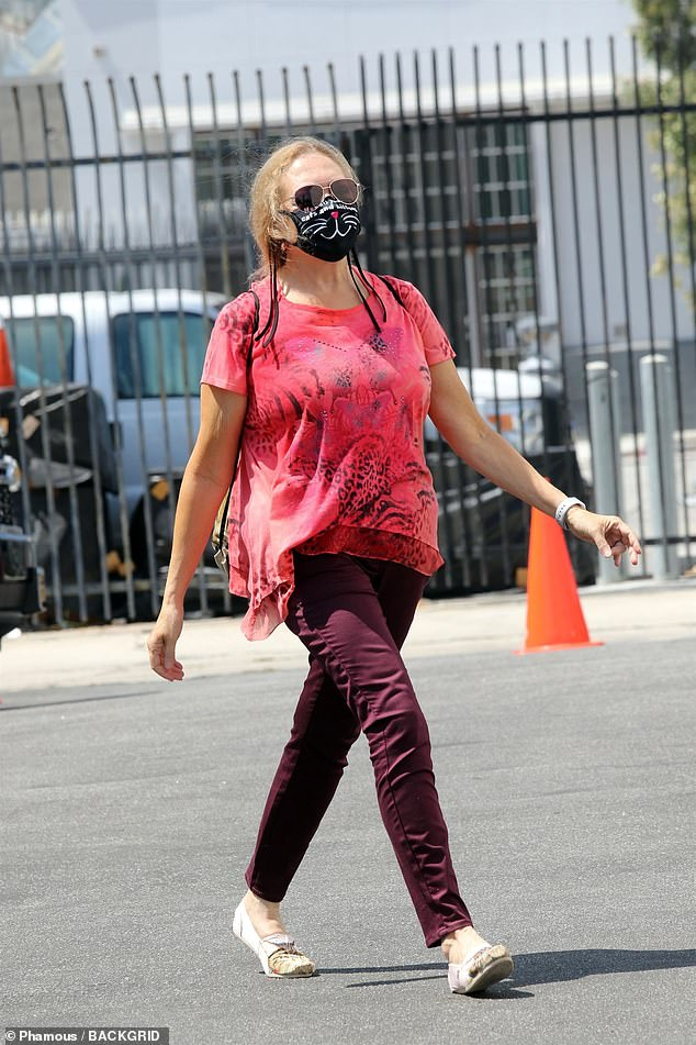 Tiger King's Carole Baskin dresses in cat print for Dancing With The Stars rehearsals