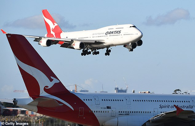 The overseas travel ban has now been in place for almost six months. (Pictured: A Qantas plane leaves Sydney)