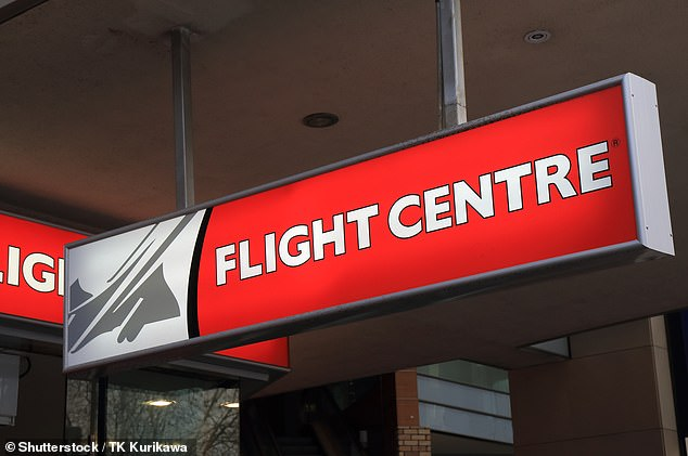 Email correspondence from a Flight Centre  (pictured) representative revealed the provider's decision was based off concerns over their own business viability during COVID-19